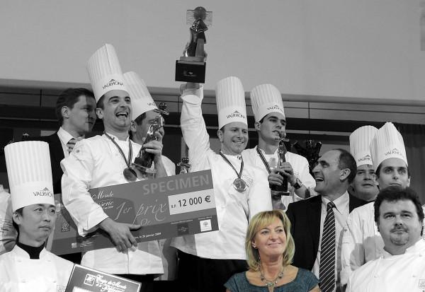 Marie-Odile Fondeur lors de la remise des prix de la Coupe du Monde de la Pâtisserie - Sirha 2009 à Lyon-Eurexpo.