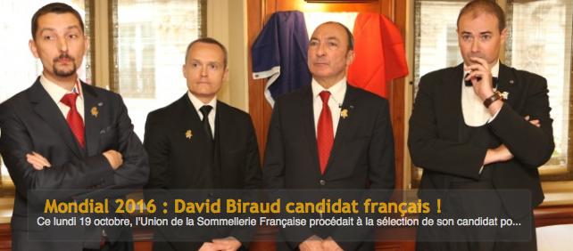 David Biraud représentera la France au Meilleur Sommelier du Monde !