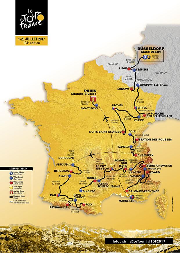 Tour de France Carte 2017