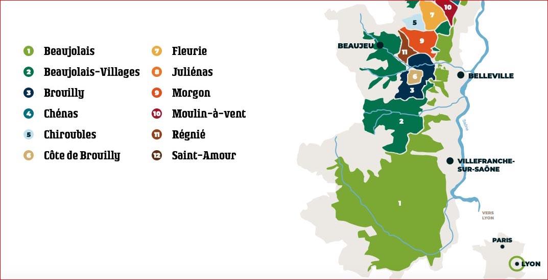 Carte des Beaujolais